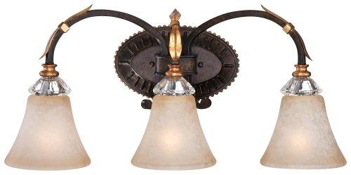 Metropolitan N2693-258B Bella Cristallo Vanity, 3-Light 300 Total Watts, French (Gold Belle Lighting)