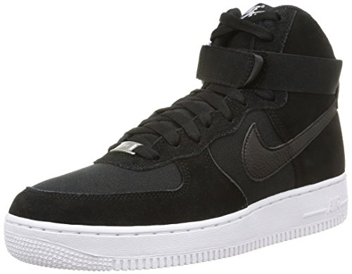 Mens Nike Air Force 1 High '07 Sneakers Black/White Suede 315121 033 (9.5)