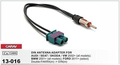 CARAV 13-016 Autoradio doppel Fakra auf DIN Antennenadapter