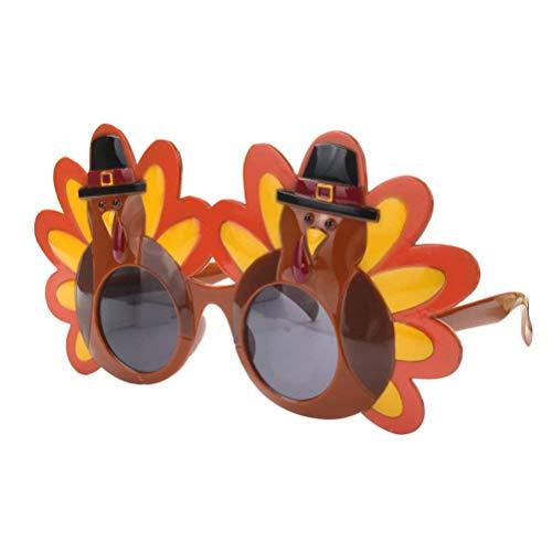Thanksgiving Glass (BinaryABC Thanksgiving Sunglasses,Turkey Glasses,Thanksgiving Turkey Decorations,Thanksgiving Costume Party Favors)