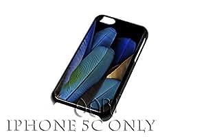 AT&T / T - Mobile / Sprint / Verizon / Vintage retro blue feathers iPhone 5C case / iPhone 5C Case - 4G CF#079