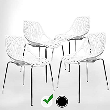 Incredible Modern Dining Chairs Set Of 4 By Urbanmod White Chairs Kid Friendly Birch Chairs Stackable Modern Chair Mid Century Dining Chair Ibusinesslaw Wood Chair Design Ideas Ibusinesslaworg