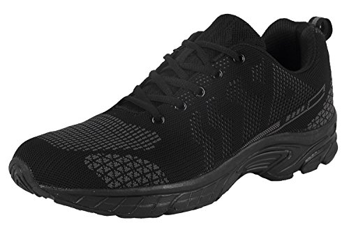 iLoveSIA Men's Lightweight Leisure Outdoor Running and Walking Shoes FlyLeopard 2 Grey US 9