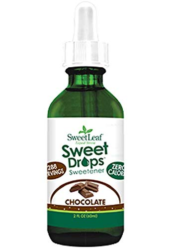 SweetLeaf Sweet Drops Liquid Stevia Sweetener, Chocolate, 2 Fl. Oz (Pack of 1) (Fat Free Chocolates)