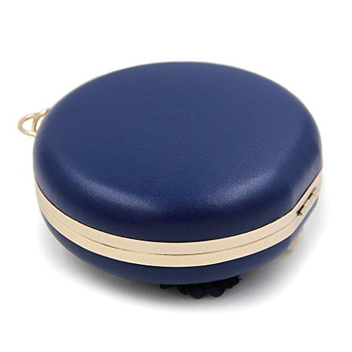 Pochette Bleu Femme pour Abricot Orange JAGENIE vqxdfv