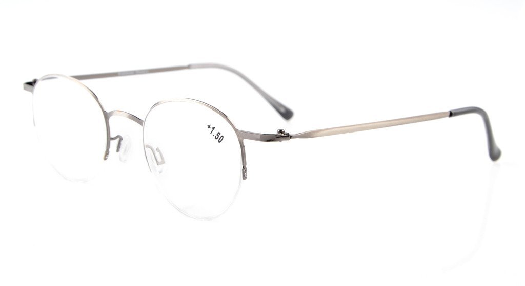 Eyekepper Occhiali ovale da lettura leggero Metà-orlo marrone +1.75 beSTKA