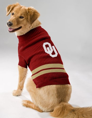 Clemson Tiger Cheerleader Costume (Pets First Sports Fan NCAA Oklahoma Sooners Dog Sweater Xtra Small)