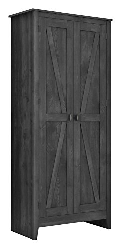"Ameriwood Home 7532196COM Farmington Wide Storage Cabinet, 31.5"", Rustic Gray from Ameriwood Home"