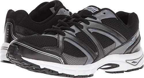 Avia Men's Avi-Execute-II Running Shoe, Black/Metallic Iron Grey/Chrome Silver, 9.5 M US by Avia