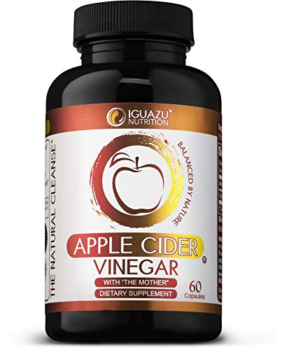 - 100% Organic Apple Cider Vinegar Capsules with The Mother - Natural Cleanser Supports Weight Loss, Healthy Blood Sugar & Cholesterol Levels, Boosts Energy & Metabolism, Raw Non-GMO, 700mg 60 Pills