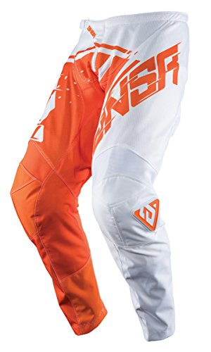 (Answer Racing A18 Syncron Air Youth Boys Off-Road Motorcycle Pants - White/Orange / Size 18)
