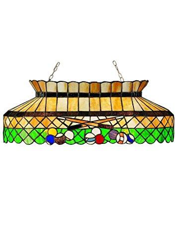 32 Inch L Green Billiard Oblong Pendant , Ceiling Fixture , Meyda (Billiard Oblong Pendant)