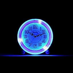 DreamSky Non Ticking Quartz Analog Alarm Clock With Backlight And Snooze, Loud Music Alarms,Simple To Set Clocks, Bedside Alarm Clock ,Battery Operated