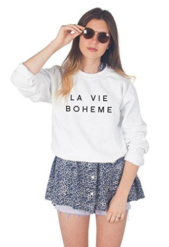Sanfran Clothing Damen Strickjacke Weiß - Weiß 8LE8UzmAz
