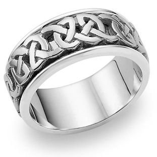 950 Platinum Celtic Knot 4015 Wedding Band - Size 10