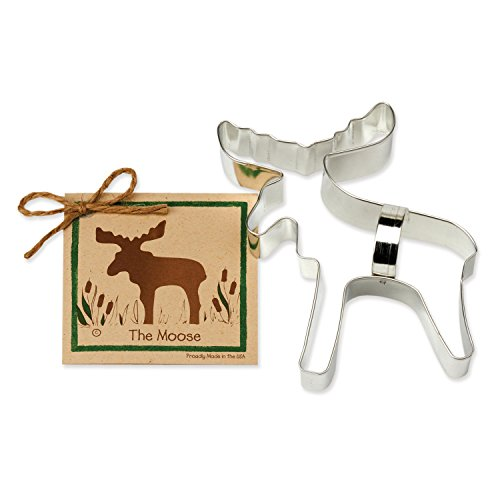 Moose Cookie Cutters - Ann Clark - 6.3 Inches - US Tin Plated Steel