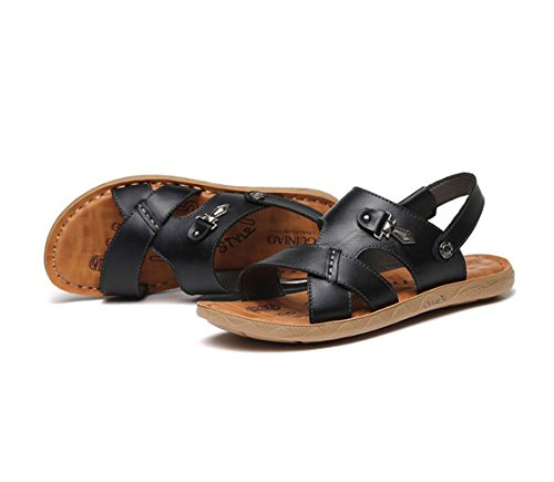 Playa para con Black Antideslizantes Verano Sandalias Plataforma Zapatillas De De Hombres 7XqHx