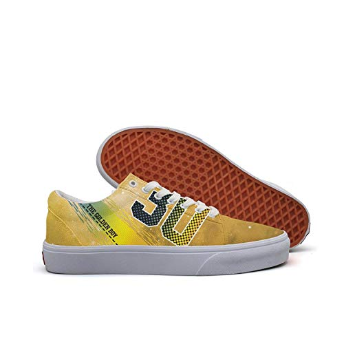 Juiertjko Mens Guys Lace-Up Canvas Low Top Wear-Resistant American-professional-basketball-player-30- Traveling Skateboarding Shoes Sneakers