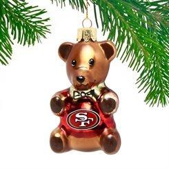 San Francisco 49Ers Teddy Bear Ornament