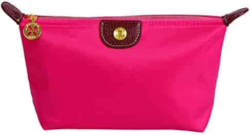 Bestrice iConic-Frame Pouch-Cosmetics Case Large Makeup Bag Travel  Accessory Organizer (Rose 6b47b330cc603