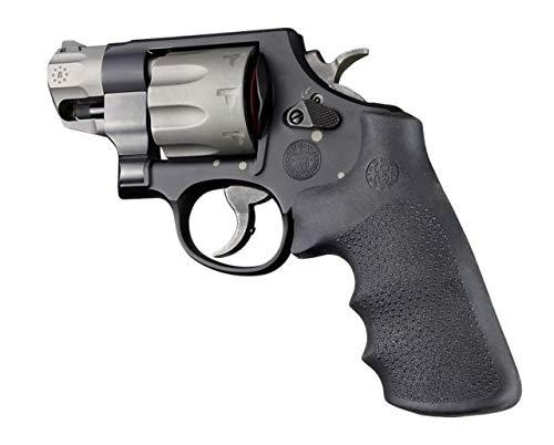 Hogue 19022 S&W K L N X Z Frame Round Butt Rubber Tamer Conversion Monogrip Black Gun Grips