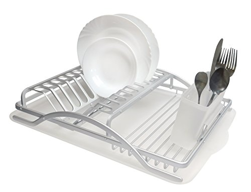 REAL HOME Innovations Deluxe Aluminum Dish Rack Set