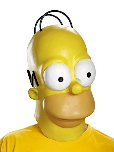 Disguise Men's Homer Adult Costume Mask, Yellow, One Size ()