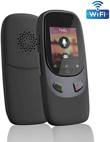スマート言語翻訳デバイス、リアルタイム音声双方向マルチスピーチ/テキスト WIFI IPS タッチスクリーン41学習旅行ビジネスショッピングのための言語 (アップグレード)