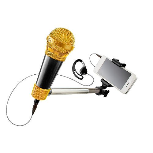 Selfie Mic Music Set & Pie Face Showdown - 2 Items Bundled