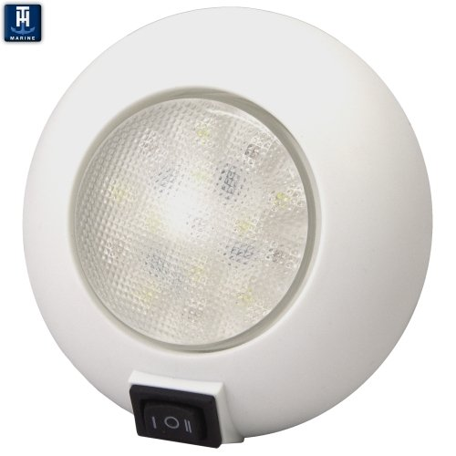 TH Marine LED-51830-DP Dome Light with Switch, Red/White (Dome Th)