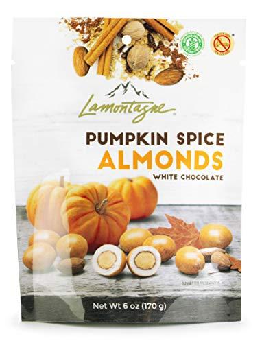 Lamontagne White Chocolate Pumpkin Spice Almonds, 3 x 6oz bag - Gluten-free, Peanut-free.