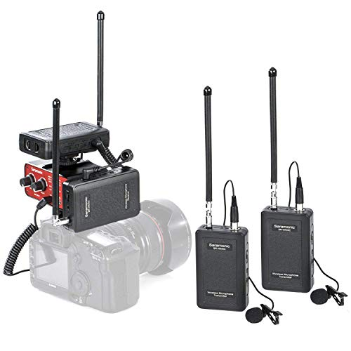 Saramonic VHF Dual Wireless Lavalier Microphone System 2 Tra