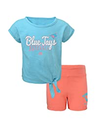 Toronto Blue Jays Preschool Girls Tiny Trainer T-Shirt and Short Set