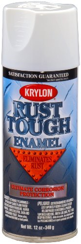 Krylon RTA9200 'Rust Tough' Gloss White Rust Preventive Enamel - 12 oz. (White Rust Spray Primer)
