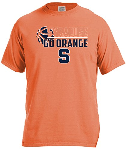 Ncaa Syracuse Orange Basketball Logo Short Sleeve Comfort Color Tee  X Large  Burnt Orange