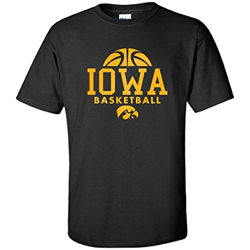 (Iowa Hawkeyes Basketball Hype Mens T-Shirt - X-Large - Black )