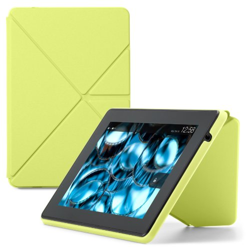 Amazon Kindle Fire HD Standing Polyurethane Origami Case (will only fit 3rd generation), Citron (Kindle Hdx 7 Case Origami)