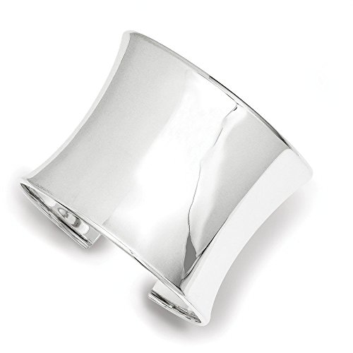 Sterling Silver 50mm Cuff Bangle Bracelet (1.97 Inches Wide) by PriceRock