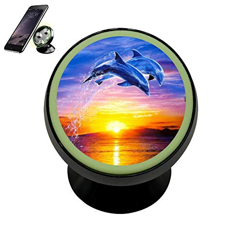 - LIHHOLI Dolphin Porpoise Delphinidae Vehicle Phone Mount Magnetic Mobile Phone Car Mount Dashboard Multi-Function Mounts Holder 360 Universal Noctilucent Kit