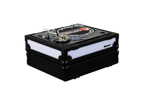 Odyssey FFX2LBM1200BL Flight Fx2 Series Battle Position Technics 1200 Style Turntable Case with Front and Left Side LED Panel 1200 Series Turntable