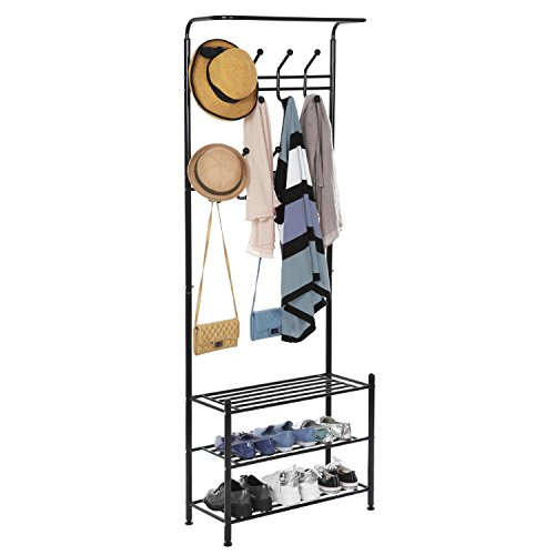Black Metal Freestanding Organizer Closet