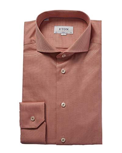 Eton Mens Slim Fit Dress Shirt, 40, Red