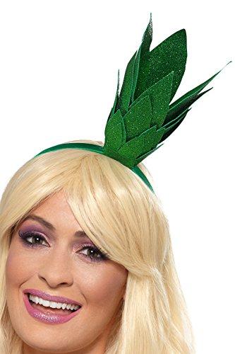Smiffys Pineapple Stalk Glitter Headband, Green ()