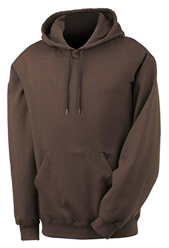 Fruit Of The Loom 12 oz Supercotton 70/30 Pullover Hoodie Sweatshirt 82130 brown Small