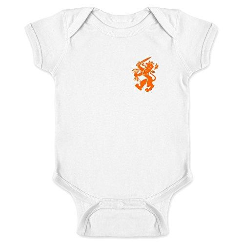 Dutch Soccer Retro National Team Halloween Costume White 24M Infant Bodysuit