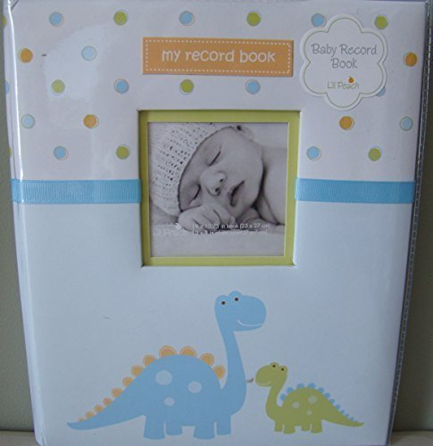Baby Days Memory Album (Pearhead L'il Peach Baby Record Book Boy Blue Dinosaur Scrapbook Photo Album by Pearhead)