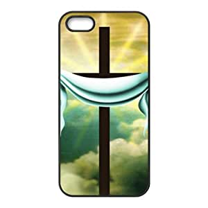 linJUN FENGPure white cloth and cross Cell Phone Case for iPhone 5S