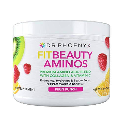 Dr. Phoenyx FitBeauty Amino Acid Blend with Collagen & Vitamin C – Hydration Boost, Healthy Metabolism, Healthy Skin – Keto Friendly, Sugar Free Drink Mix, Hair Skin and Nails – Fruit Punch, 30 Serv Review