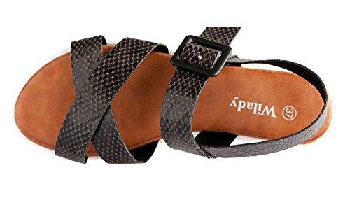 Noir Plateforme Sandales Eté 18 Tongs Ys Femme Chaussures Spartiates pieds Rapidoshop Nu awBT1qPy