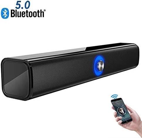 10W Bluetooth 5.0 Sound Bar, Portable Speakers with Stereo,